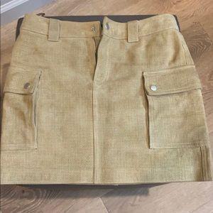 Club Monaco suede skirt size 0. Gently worn